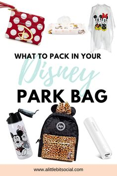 You firstly want to keep your packing list simple, to a minimum and include essentials only. There is no point filling your bag with jumpers and cardigans if you visit in the summer months and sun lotion if you are visiting in November so what exactly do you pack in your Disney park bag?