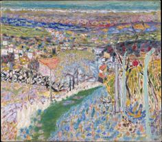 Pierre Bonnard - Landscape in the South (Le Cannet), 1943, oil on canvas