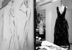 """""""From The First Sketches to the Runway: Exclusive Ralph Lauren Backstage""""  I can't even imagine the feeling of looking at the first sketches and then seeing it come to life on the runway. That moment will be so surreal for me."""