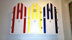 My Beach Hut bathroom cabinet. Beach Hut Bathroom, Beach Bathrooms, Nautical Bathrooms, Beach Huts, Bathroom Ideas, Coastal, Cabinet, Holiday Decor, Furniture