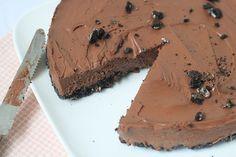 Chocolade Cheesecake met Oreo-bodem