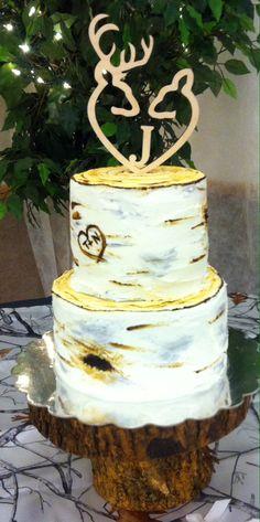 Birch bark wedding cake by Sugar On Top Bakery