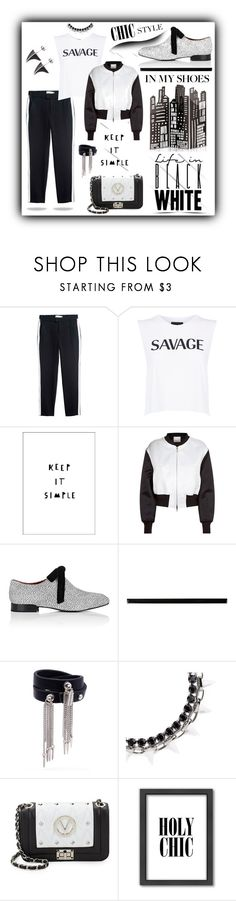 """Black & White"" by closet-freak ❤ liked on Polyvore featuring Private Party, 3.1 Phillip Lim, Merola, Jenny Bird, Joomi Lim, Mario Valentino and Americanflat"
