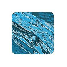 Water Skin Abstract Coasters #animal #home #decor #coasters #drink #accessory #blue  #abstract #fun #skin #graphic #pop #art