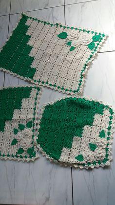 Jogo de banheiro em crochê R$130,00