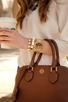 This Tory Burch Robinson Satchel is everything.