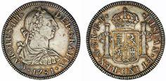 2 SILVER REALES/PLATA. CHARLES III-CARLOS III. MÉXICO 1781. XF/EBC. ATRACTIVA.