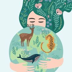 Terre Nature, World Earth Day, Save Our Earth, Arte Pop, Mother Earth, Cute Art, Vector Art, Planets, Art Drawings