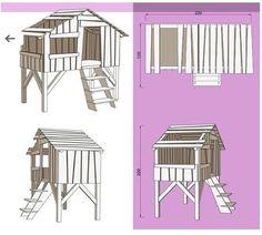 plans lit cabane (objet et meuble en palette)