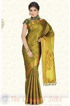 Pure Jari Brocade Bridal Silk Saree PSS201 http://www.shopcost.in/bridal+silk+saree