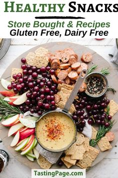 Healthy snack recipes and healthy snack products to buy - gluten free, dairy free, sugar free with vegan and paleo options | TastingPage.com #snack #snacks #healthysnack #healthysnacks #glutenfree #dairyfree #sugarfree