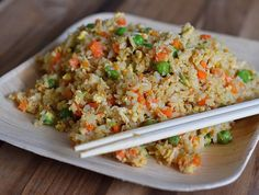 We love to make fried rice at home, thanks to this delicious recipe, so much better than takeout. Use leftovers to make Chicken Fried Rice Spring Rolls!