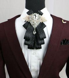 Wedding Men Plaids & Checks Rhinestone Crystal Pre Tied Clip Pin Bow Tie #Unbranded #PinTie