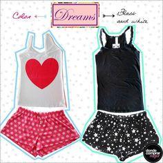 ¿Color o blanco y negro para esta noche? -Conjuntitos, Dreams by Veneno