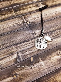 A little beachy bling for a cell phone! | Cell Phone Charm  Sand Dollar  by simplytopaz