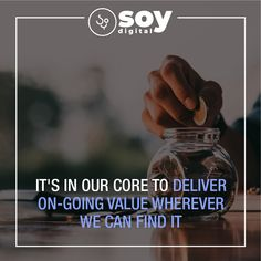 It's in our core to deliver on-going value wherever we can find it. Sales And Marketing, Internet Marketing, Online Marketing, Digital Marketing, Core Values, Character Description, Literature, Novels, Writing