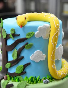 Who Wants To Make This Cake For Eastons Birthday Party Sunday - Snake birthday cake