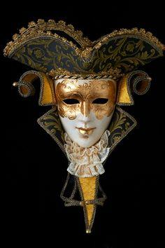 Maschere veneziane da parete in cartapesta. Casanova