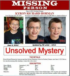 So sad this boy has been missing for 5 years! please help bring him home!