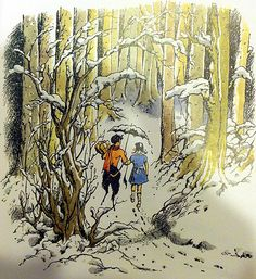 Mr. Tumnus and Lucy from The Lion, the Witch and the Wardrobe