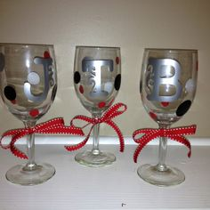 Fifty Shades of Grey Wine Glasses ~$8 each!