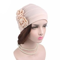 Cheap hat liner, Buy Quality turban hat directly from China chemo beanies Suppliers: 2017 new women elegant double flower Chemo beanie Cap Sleep Turban Hat Liner for Cancer Hair Loss caps Bonnet Chemo Beanies, Women Accessories, Fashion Accessories, Turban Hat, Turbans, Flower Hats, Floral Scarf, Head Wraps, Victoria