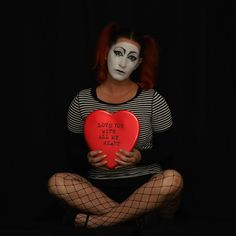 Mime Makeup, With All My Heart, Ronald Mcdonald, Women, Fashion, Moda, Fashion Styles, Fashion Illustrations