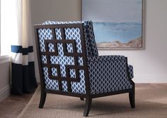 A favorite and cozy reading chair. Would be great on the first floor in a solid fabric. Grayson Chair | Chairs & Chaises