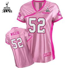 NFL NIKE San Francisco 49ers http://#52 Patrick Willis Super Bowl Patch Womens Elite Jersey$109.99