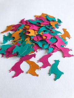 100 pieces of multi-colored Llama confetti