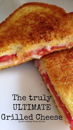 Ultimate grilled cheese sandwich recipe - my husband approves!  Makes an easy lunch or dinner meal.