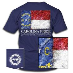 North Carolina Painterly Flag Carolina Pride, North Carolina, Flag, Men Casual, Mens Tops, Casual Male Fashion, Science