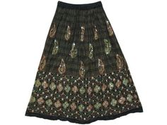 Womens Skirt Black Sequin Embroidered Skirts, Bohemian Skirt Indiatrendzs mogulinterior,http://www.amazon.com/dp/B00ESZKICS/ref=cm_sw_r_pi_dp_LxKhsb0BCMCFCW4X