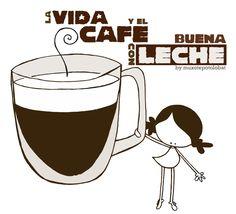 A tomarse la Vida y beberse un café... con (bueeeeena leche!!! Eeeeeegunon mundo!!