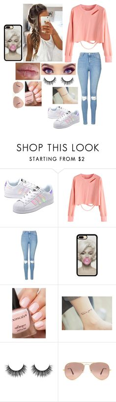 """""""Sin título #366"""" by burusa2 ❤ liked on Polyvore featuring adidas Originals, Topshop and Ray-Ban"""