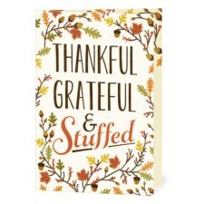 Stuffed with Thanks Thanksgiving Cards