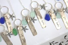 Tag necklace Beach Girl sterling silver sea by HollyMackDesigns, $59.00