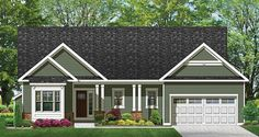 Ranch House Plan with 1601 Square Feet and 3 Bedrooms from Dream Home Source | House Plan Code DHSW076917