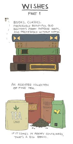 Wish List.....Books and Tea