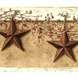 877390 Country Hanging Star Wallpaper Border