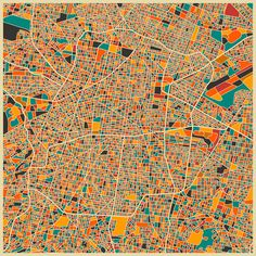 Mapas urbanos convertidos en abstractas obras de arte por Jazzberry Blue | TodoGraphicDesign