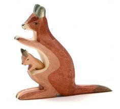 Ostheimer kangeroe moeder en kind in de buidel (2062)