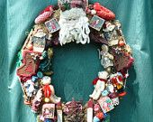 Christmas Wreath with Toys and Gingerbread Men . Etsy