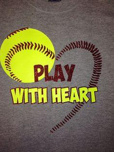 Custom Softball Heart shirt by on Etsy Softball Crafts, Softball Quotes, Softball Shirts, Softball Players, Girls Softball, Sport Quotes, Baseball Mom, Softball Stuff, Softball Party