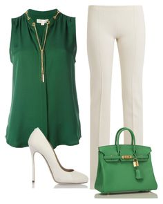 A fashion look from March 2017 by nezahat-kaya featuring MICHAEL Michael Kors, Ryan Roche, and Hermès Office Fashion, Work Fashion, Fashion Looks, Classy Outfits, Pretty Outfits, Casual Outfits, Mode Outfits, Fashion Outfits, Womens Fashion