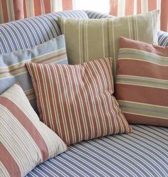 Porlock, Selworth and Weston stripes by Jane Churchill