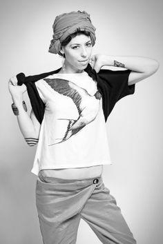 T-shirt and womenswear. CHIARAPERROT  T-shirt illustration. Serena Strino  Ph. Udalrigo Massimo  www.chiaraperrot.it http://serenastrino.wordpress.com  https://www.facebook.com/ChiaraPerrot https://www.facebook.com/pages/Casual_it%C3%A0/408423862592378