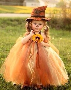 Little girl Scarecrow TuTu dress Costume custom made by lelesgifts, $39.00