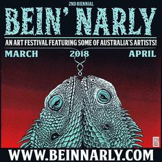 Stoked to one of the sponsors for this years #beinnarly - curated by the legend who is @glennoart - the event features 10 exhibitions between March and April - head to beinnarly.com for more info - #beinnarly #younghenrys #beachburrito #aisle6ix #unoduo #castlegiant #wombatgrafx #nocuremagazine
