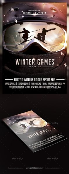 Family Winter Sports Icons Set Winter sport, Icons and Sports - free sports flyer templates